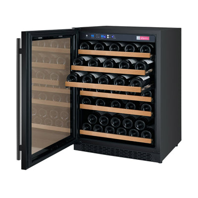 "Allavino 24"" Wide FlexCount II Tru-Vino 56 Bottle Single Zone Black Wine Refrigerator"
