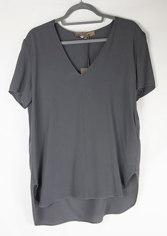T-SHIRT CREPE ANTRACITA -50%