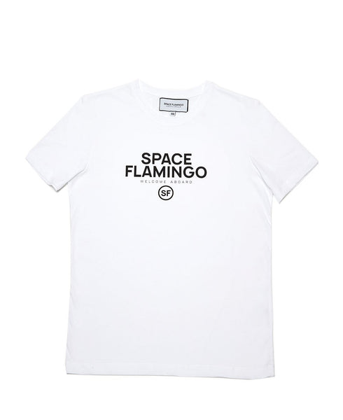 SPACE FLAMINGO CAMISETA WELCOME ABROAD