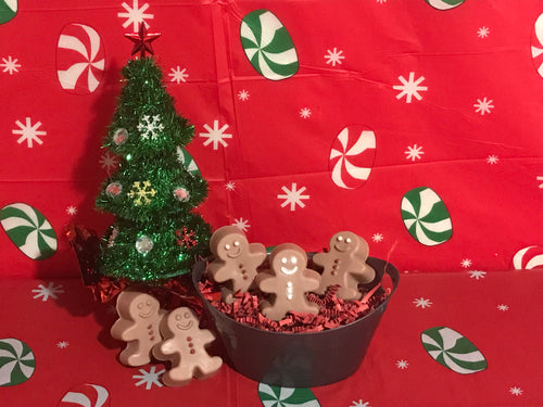 Mini Gingerbread Man Soap Bars - Gift Set Ideas, Fun Soaps for Kids
