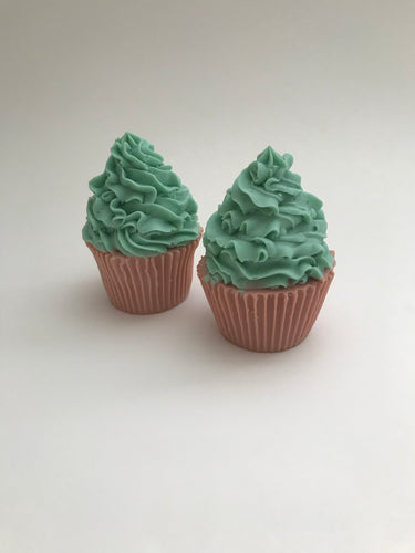 Groovy Mint Cupcake Soap