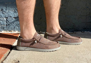 MENS Hey Dude: Wally Sox Taupe Orange