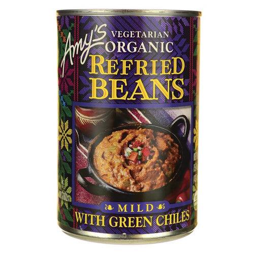 Organic Refried Beans with Green Chiles