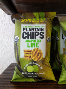 Organic Ridged Plantain Chips Acapulco Lime