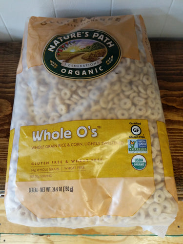 Whole O's Organic Gluten Free Whole Oat Cereal