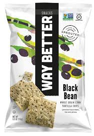 Black Bean Sprouted Whole Grain Corn Tortilla Chips