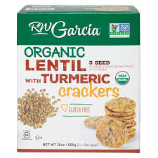 Organic Lentil 3 Seed with Turmeric Crackers