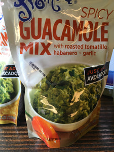 Spicy Guacamole Mix with Roasted Tomatillo, Habanero and Garlic