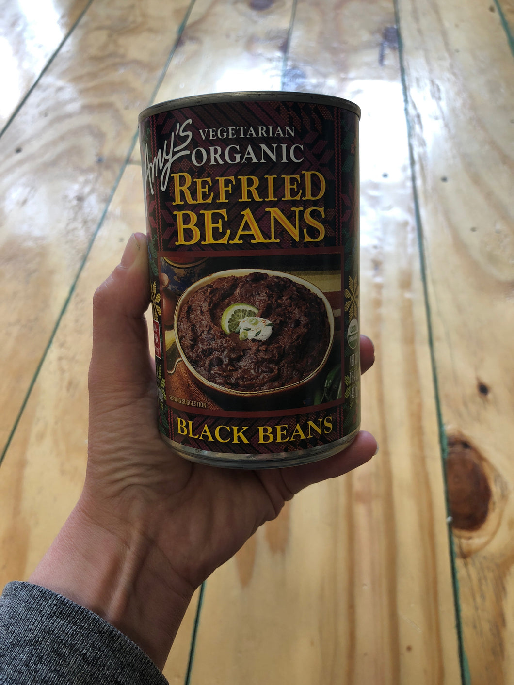 Vegetarian Organic Refried Black Beans