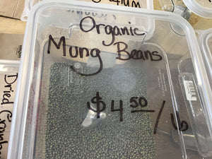 Organic Mung Beans by the pound