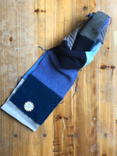 Upcycled felted cashmere scarf