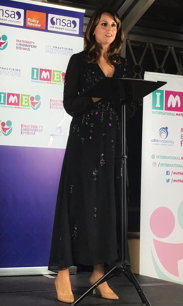 Bev hosts the International Maternity Awards in London