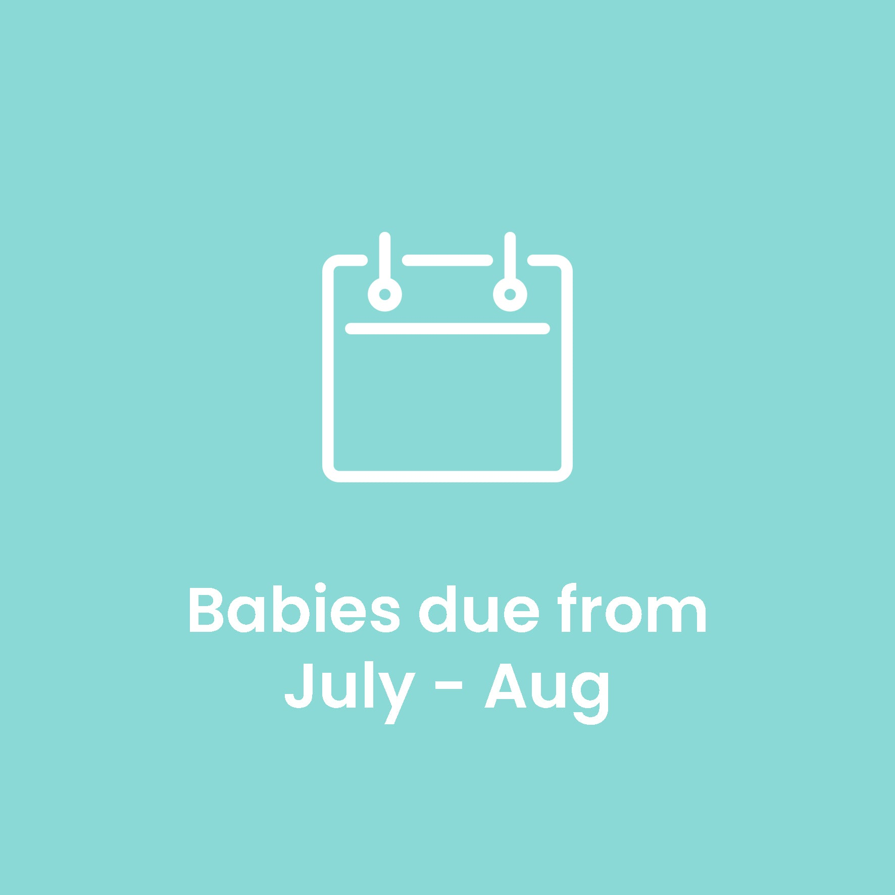 White City babies due July - August 2020
