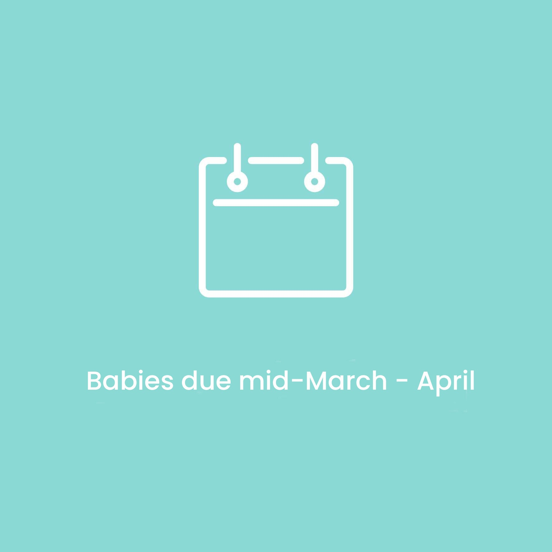 Babies due mid-March - April 2021