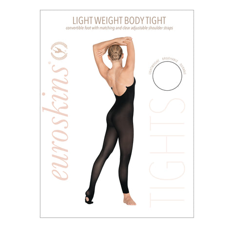 Eurotard 95704 Adult Lightweight Body Tights with Convertible Foot by EuroSkins