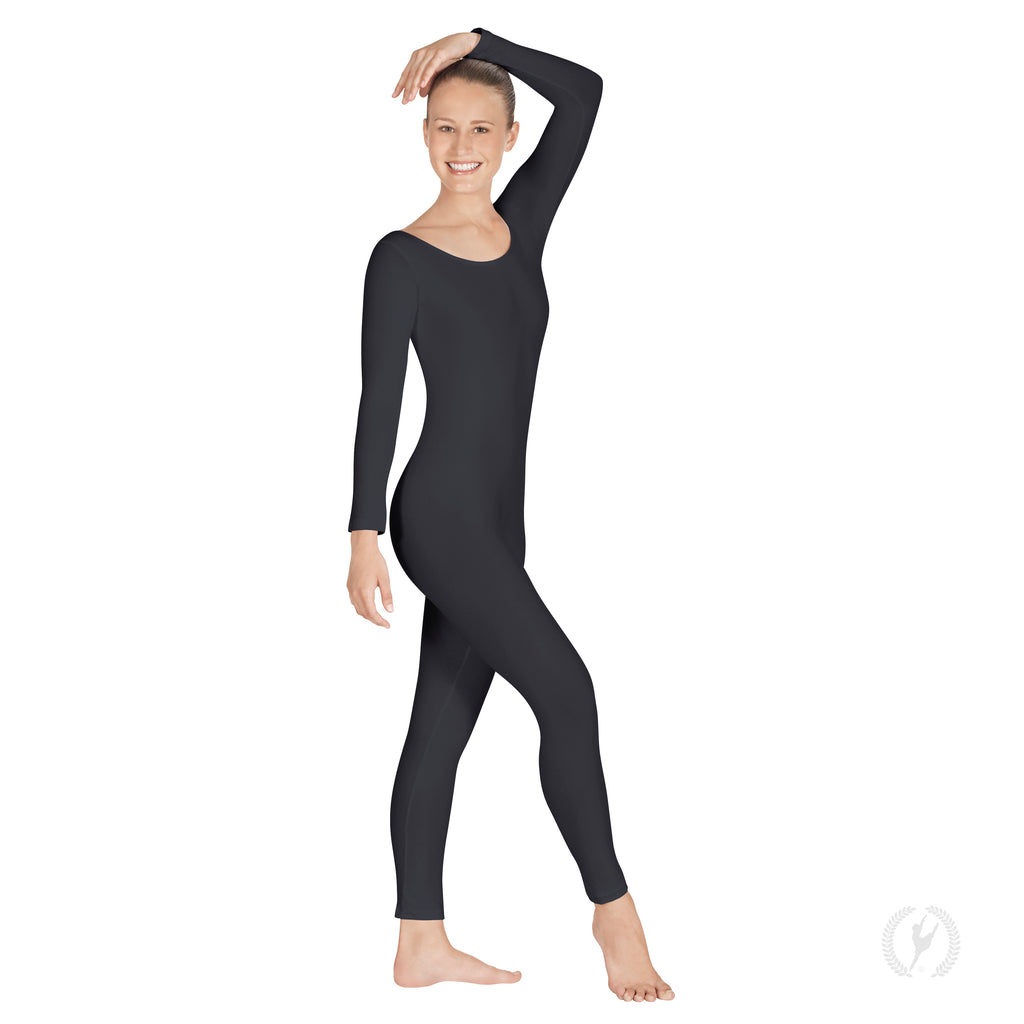 Adult Cotton Lycra® Long Sleeve Unitard - Eurotard 10129