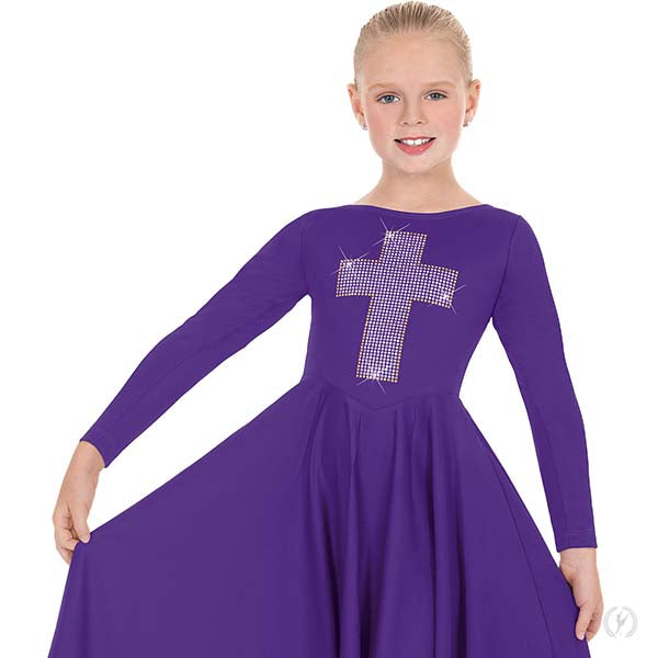 Cross of Light Praise Dress - Child's - Eurotard 11027C