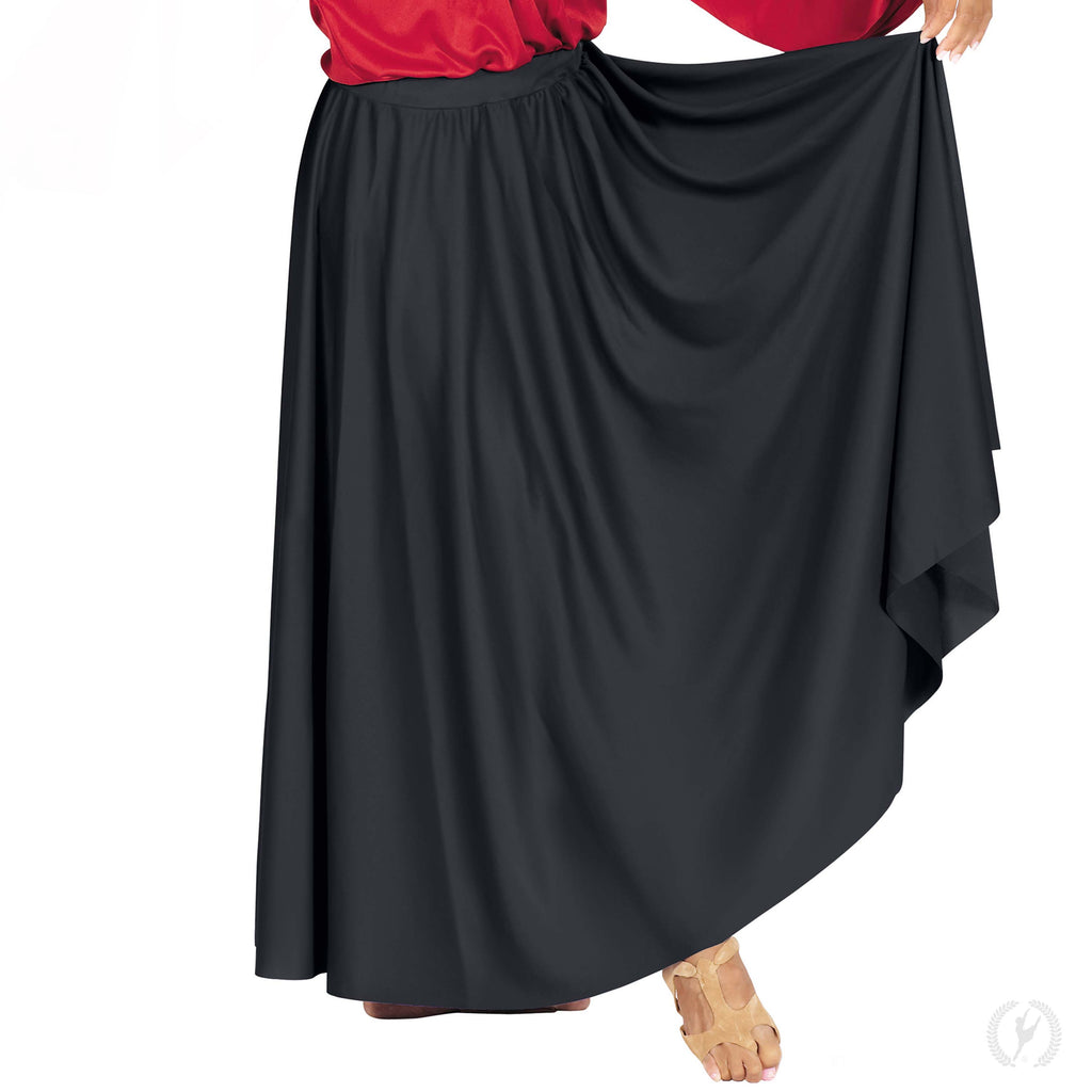 Eurotard 13778p Plus Size Simplicity Single Panel Circle Skirt