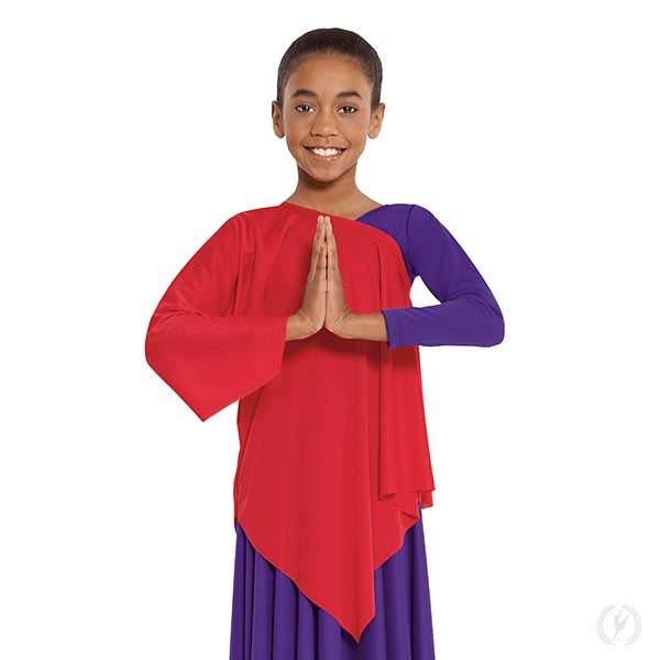 Quiet Prayer Asymmetrical Tunic - Child's - Eurotard 13826C
