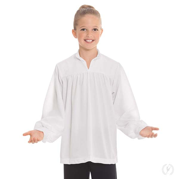 Humble Servant Open Collar Top - Unisex Child's - Eurotard 13831C