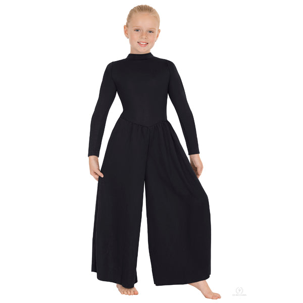 High Neck Liturgical Dance Jumpsuit - Child's - Eurotard 13846C