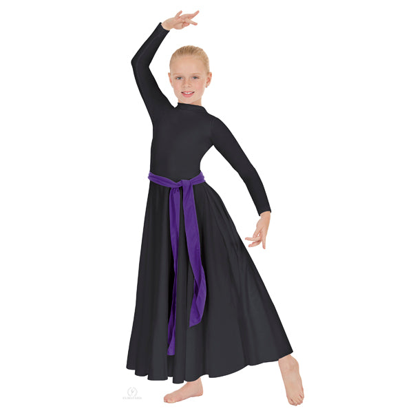 Polyester High Neck Liturgical Dress with Zipper Back - Child's - Eurotard 13847C