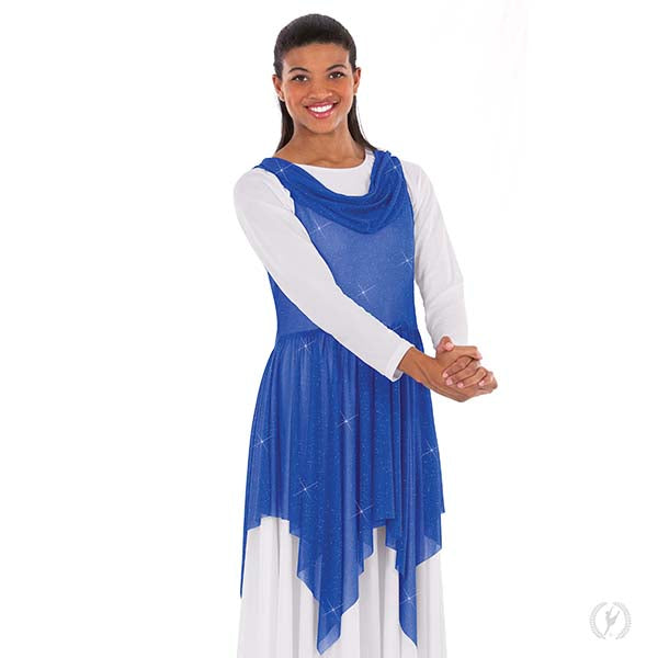 Adult's Shimmer Draped Neck Handkerchief Tunic - Eurotard 13860