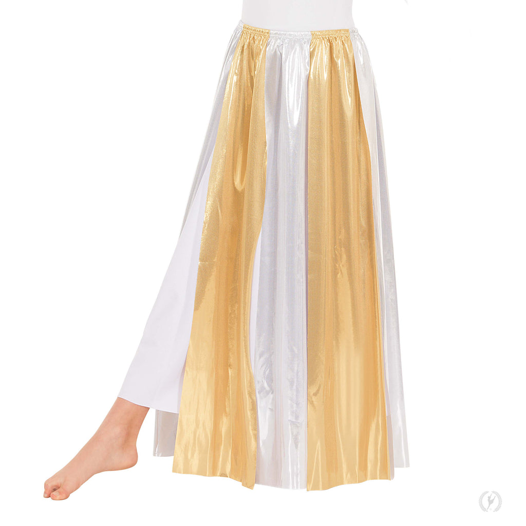 Eurotard 14808c Child Metallic Streamer Skirt and Overlay