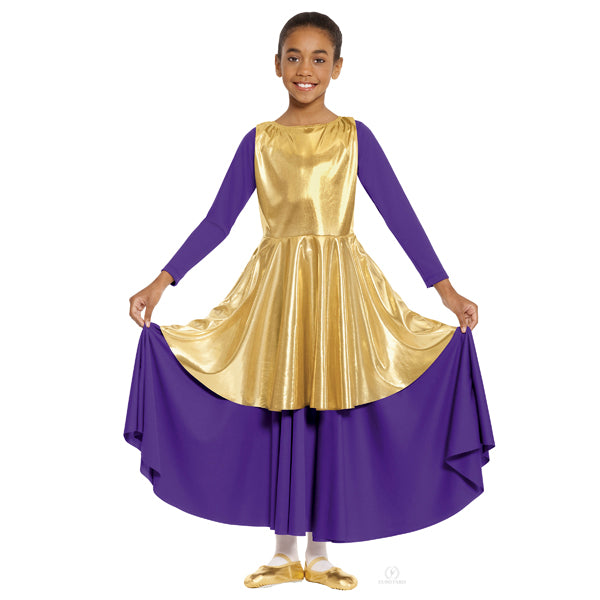 Eurotard 14824C Metallic Peplum Tunic - Child's