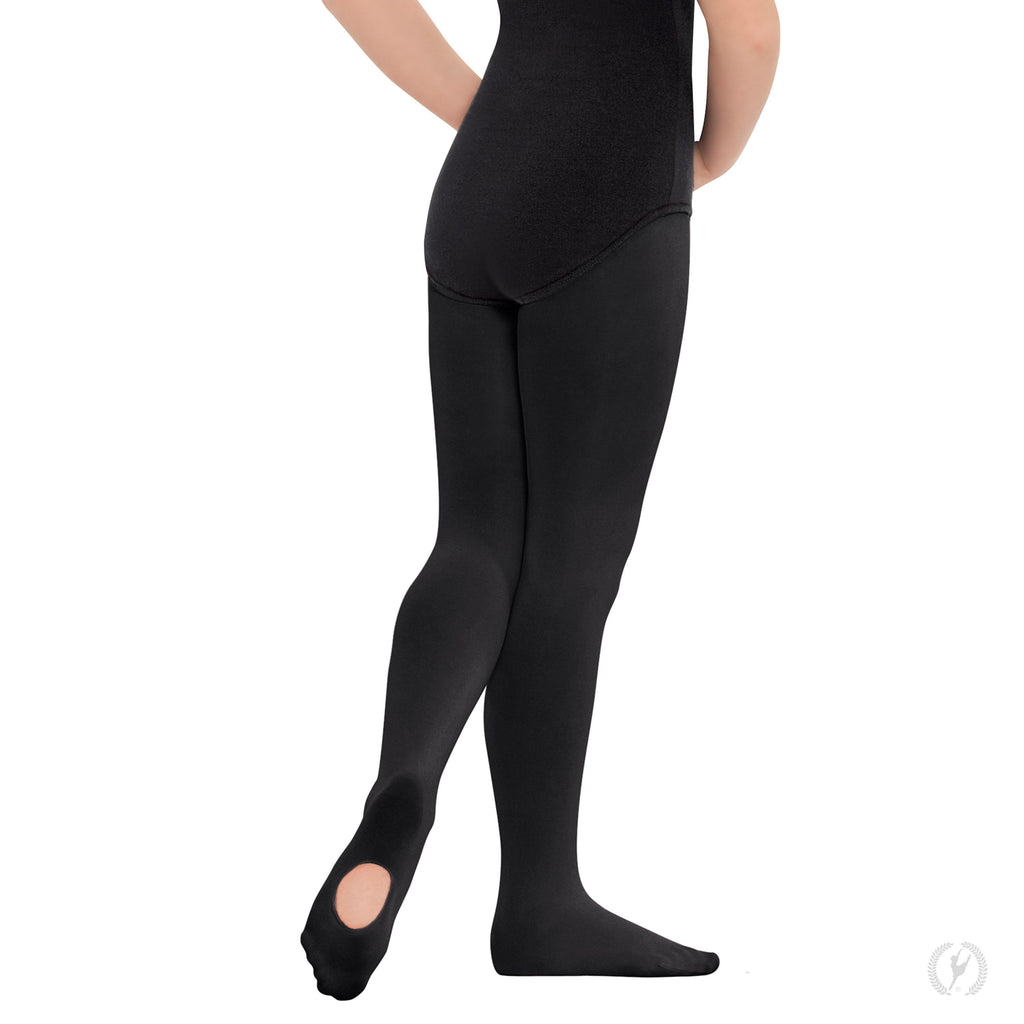 Eurotard 210c Non-Run Convertible Tights in Black sold by Dance Fashions Superstore in Roswell, Georgia. Dance Tights in Black for Girls.