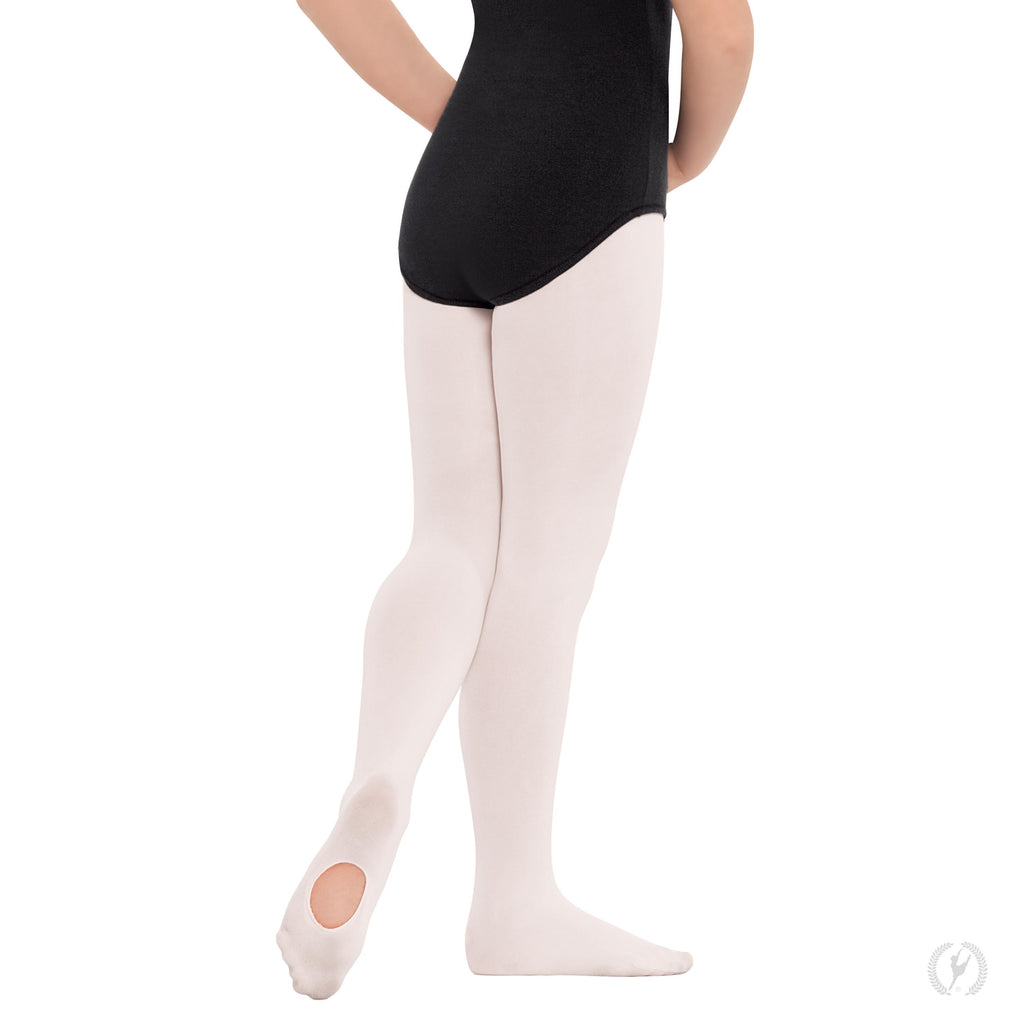 Eurotard 210c Non-Run Convertible Tights in White sold by Dance Fashions Superstore in Roswell, Georgia. Dance Tights in White for Girls.