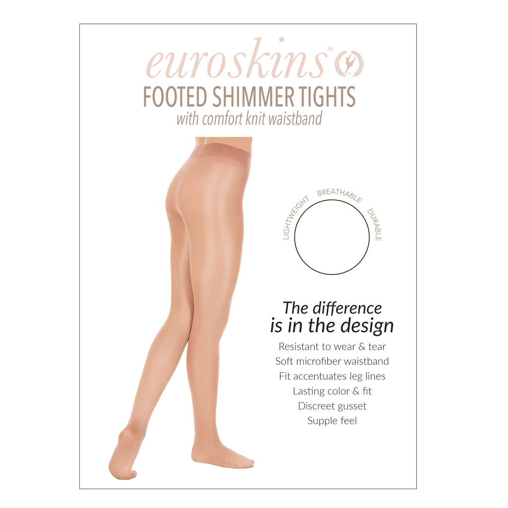 Eurotard 211 Adult Premium Shimmer Tights, Footed