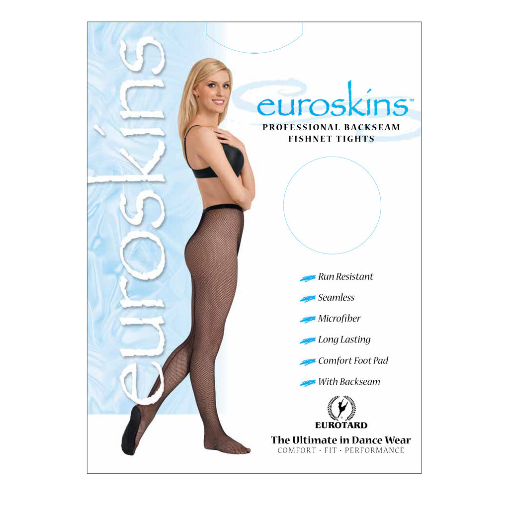 Eurotard 214 Adult Professional Back Seam Fishnet Tights by EuroSkins