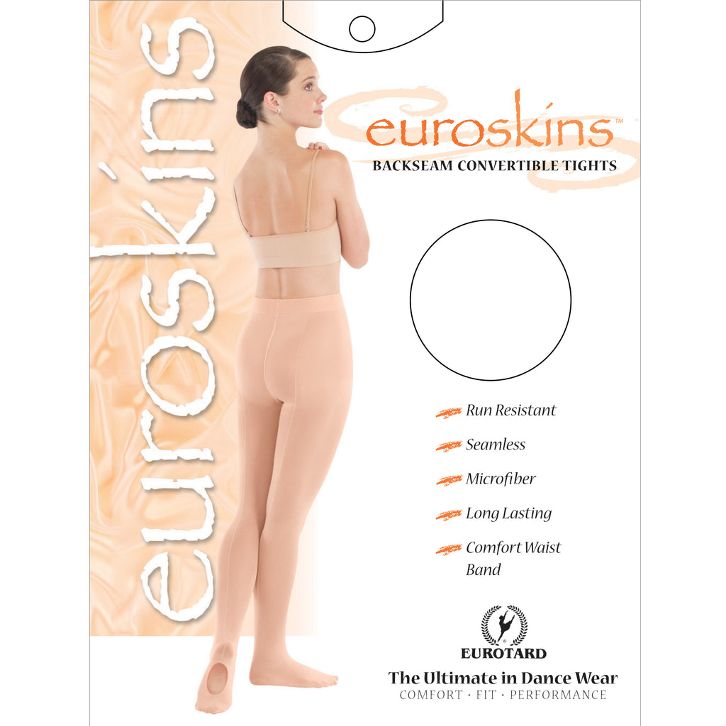Eurotard 218 Adult Microfiber Convertible Back Seam Tights