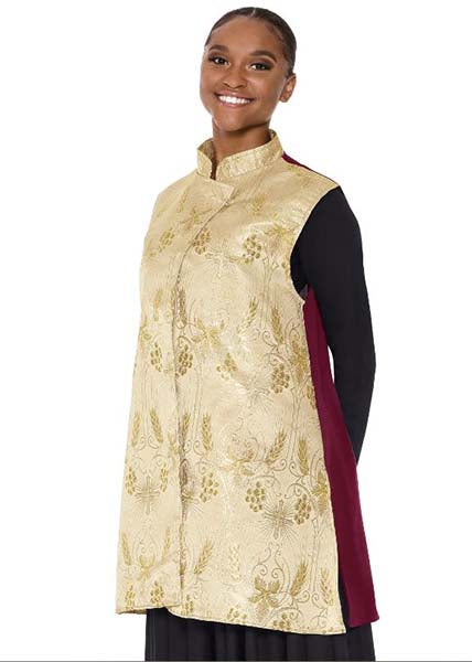 Eurotard 24788 Unisex Majestic Praise Vest Burgundy/Gold Color