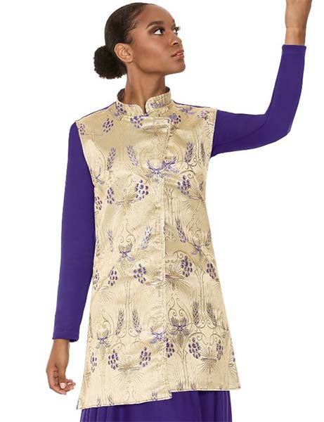 Eurotard 24788 Unisex Majestic Praise Vest Purple/Purple Color