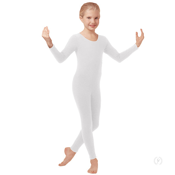 Microfiber Scoop Neck Long Sleeve Unitard - Child's - Eurotard 44129C