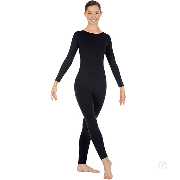 Microfiber Long Sleeve High Neck Unitard with Back Zipper - Eurotard 44130