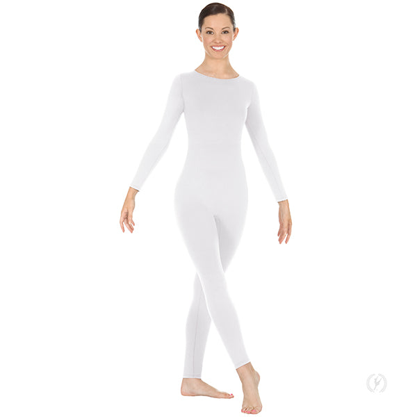 Microfiber Long Sleeve High Neck Unitard with Back Zipper - Child's - Eurotard 44130C