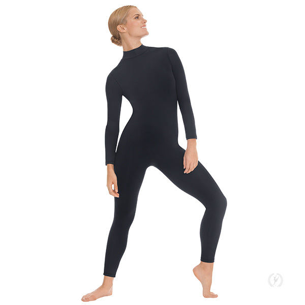 Unisex Mock Neck Long Sleeve Tactel Microfiber Unitard - Eurotard 44132