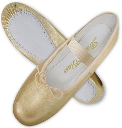 Metallic Silver/Gold Soft Leather Ballet Shoe - Dance Class B702 - Adult Shoe