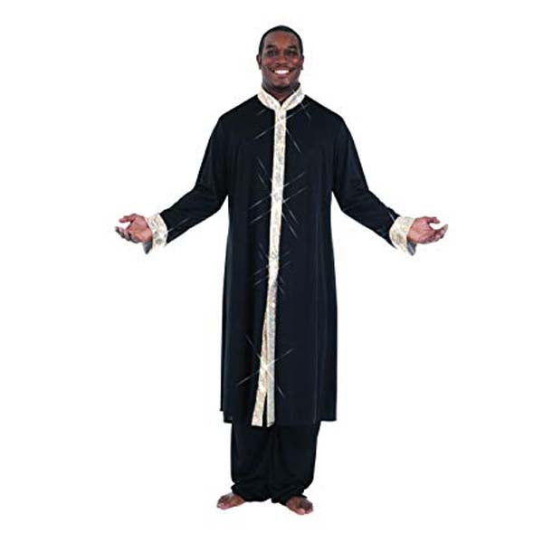 body wrappers m633 stained glass mens praise robe black