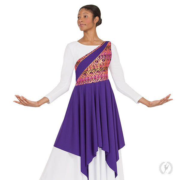 Joyful Praise Asymmetrical Tunic - Eurotard 63567