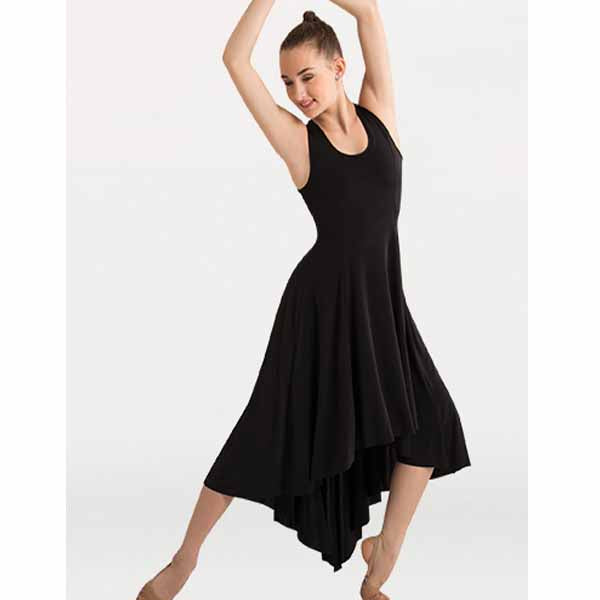 body wrappers 8721 womens butter hi-lo long dress center