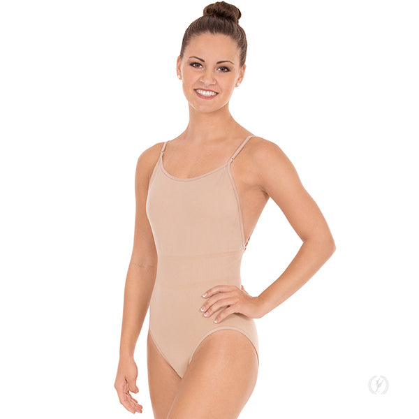 Eurotard 95706 Euroskins Microfiber Camisole Leotard with Clear and Matching Straps