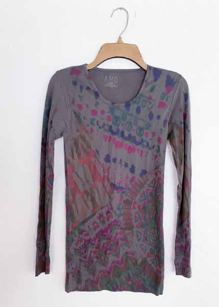 AMB Designs 3010-320 Batik Crew Neck Second Skin Top
