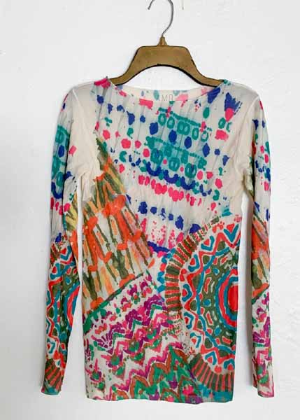 AMB Designs 6010-320 Batik Raw Edge Second Skin Top
