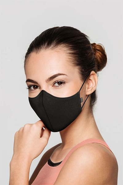 Bloch a001a b-safe adult face mask black color swatch