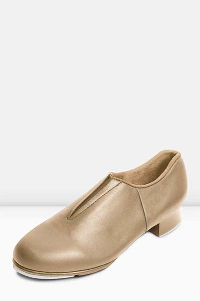 Bloch S0389L Ladies Tap-Flex Slip-on Tap Shoes tan color