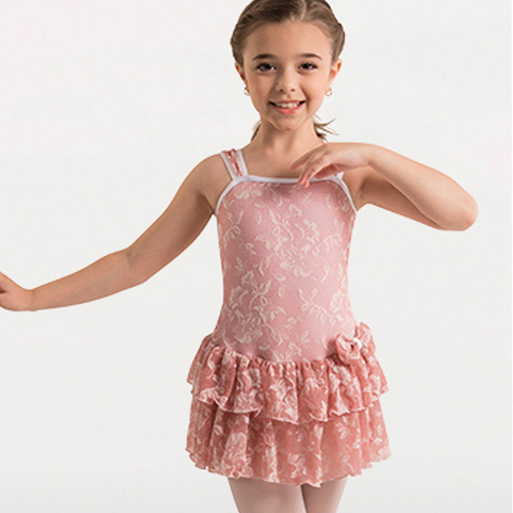 Body Wrappers 2193 Girls Mesh Flower Dance Dress